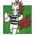 Rugby Unicorn - NZ Provincial colors - Animals of Inspiration by mellierosetest