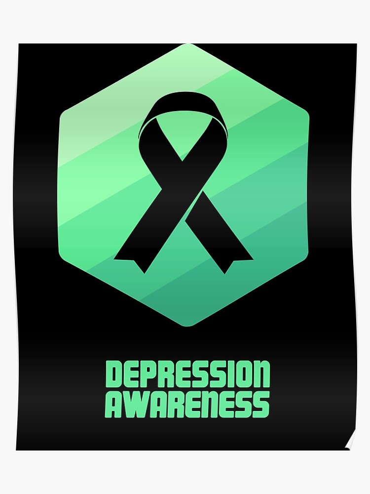 e4db3ee2271 Ribbon - Mental Health Depression Awareness | Poster