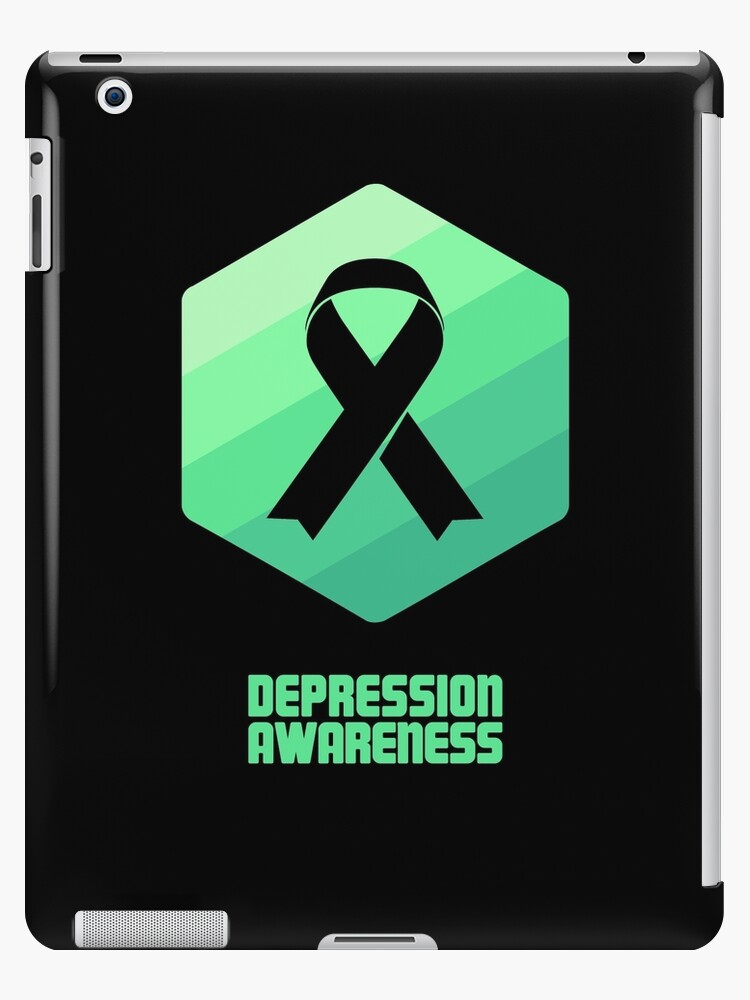 a9470e9442f 'Ribbon - Mental Health Depression Awareness' iPad Case/Skin by EMDdesign