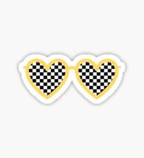 Kariertes Herz Shades Sticker