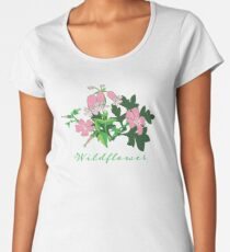 Forest Wildflowers / Dark Background Women's Premium T-Shirt