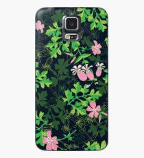 Forest Wildflowers / Dark Background Case/Skin for Samsung Galaxy