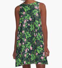 Forest Wildflowers / Dark Background A-Line Dress