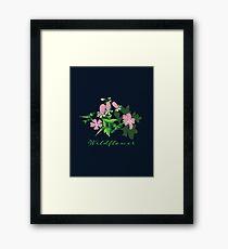 Forest Wildflowers / Dark Background Framed Print