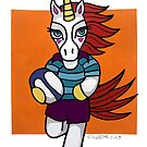 Rugby Unicorn - Running with Ball - Animals of Inspiration by mellierosetest