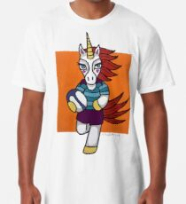 0d64ac096adb Rugby Unicorn - Running with Ball - Animals of Inspiration Long T-Shirt