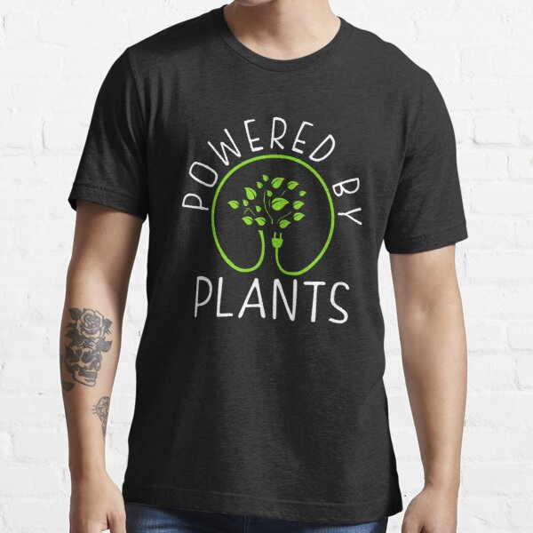 Alimenté par des plantes. Philosophie végétalienne T-shirt essentiel