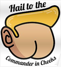 Hail to the Commander in Cheeks Poster