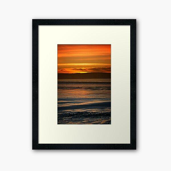 Dunnet Beach Sunset, Caithness, Scotland Framed Art Print