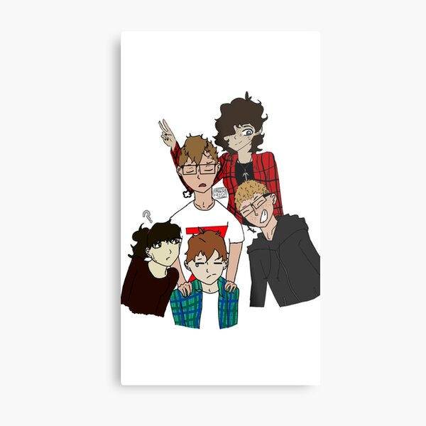 The Dungeons and Dragons squad! Metal Print