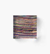 Colorful Crochet Acrylic Block
