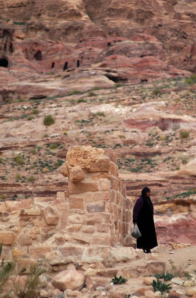 Local arab woman in Jordan by Julie Waller