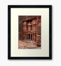 'The Treasury' in Petra, Jordan Framed Print