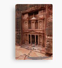 'The Treasury' in Petra, Jordan Canvas Print
