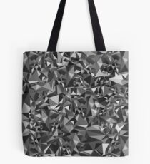 Abstract Polygon Gray Low Poly Triangle Art Black White Tote Bag