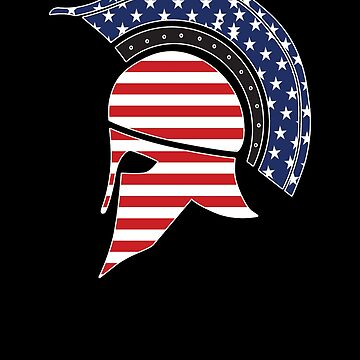 Sparta Mask USA Flag by Vroomie