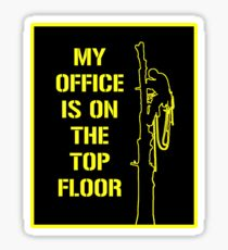 Arborist Design : My office is on the top floor yellow Sticker