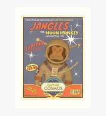 Lámina artística Fallout 4 - Jangles The Moon Monkey - Cartel de publicidad retro