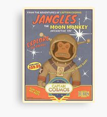 Fallout 4 - Jangles The Moon Monkey - Retro Advertisement Poster Canvas Print