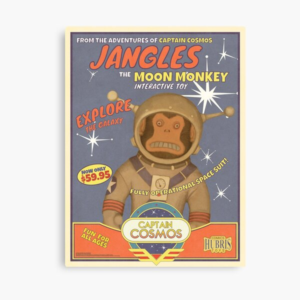 Fallout 4 - Jangles The Moon Monkey - Retro Advertisement Poster Canvas Print