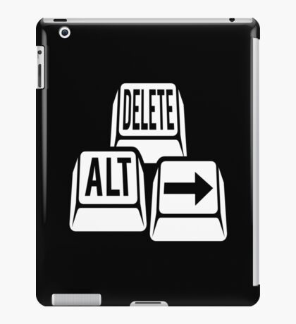Delete Alt Right iPad Case/Skin