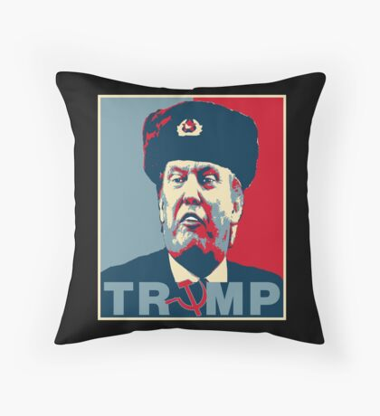 Trump Russia Poster Throw Pillow