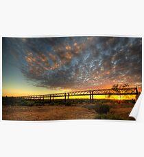 Sunrise Over Algebuckina Bridge Poster