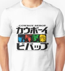 Cowboy Bebop / Multicolor Minimal Art Unisex T-Shirt