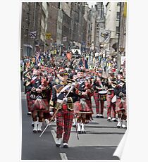 The Pipes and Drums of the Royal Scots Dragoon Guards Poster