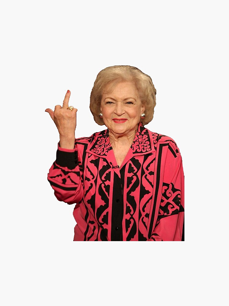 Betty White middle finger by sallygr4