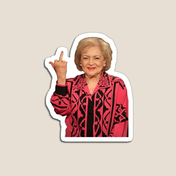 Betty White middle finger Magnet