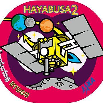 Exploring Ryugu! Hyabusa 2 the Arrival Logo by Quatrosales
