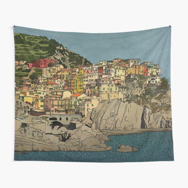 Of Houses and Hills Tapestry