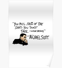 Michael Scott Quote Poster