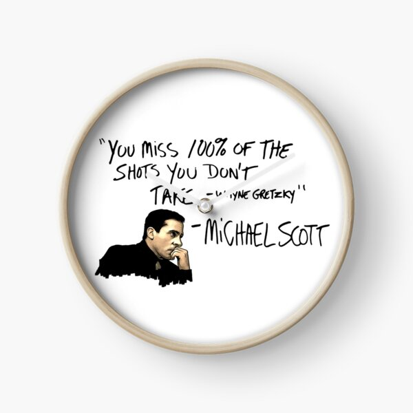 Michael Scott Quote Clock