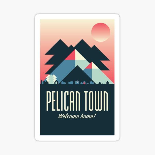 Pelican Town — Stardew Valley Travel Poster Sticker