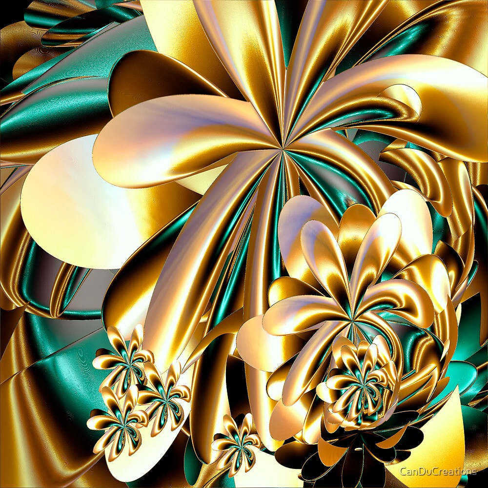 Flowers made of gold by CanDuCreations