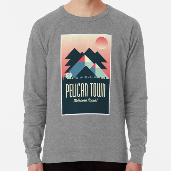 Pelican Town — Stardew Valley Travel Poster Lightweight Sweatshirt