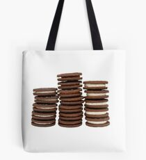 Chocolate Biscuits in Three Piles Tote Bag