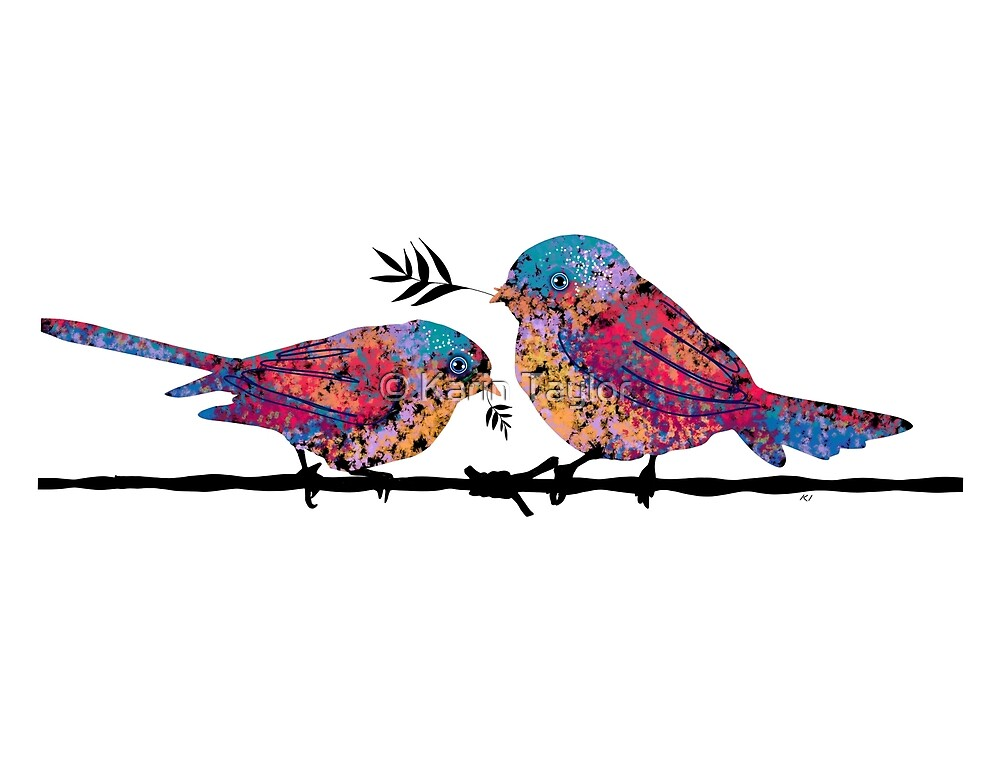 Spring Fantails by Karin Taylor