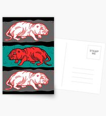 Naked Mole-Rats in red Postcards