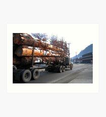 Americana • Timber 'jinker' truck, Orofino Idaho Art Print