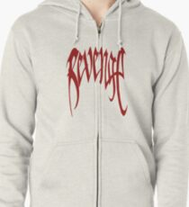 red graph Zipped Hoodie