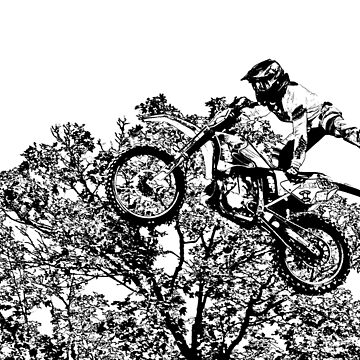 Stealing the Air - Freestyle Motocross Rider by NaturePrints