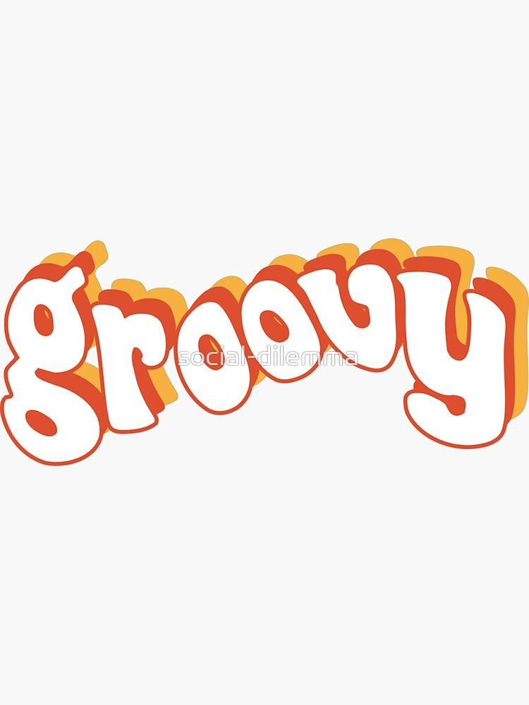 Groovy Retro Orange und Gelb von social-dilemma