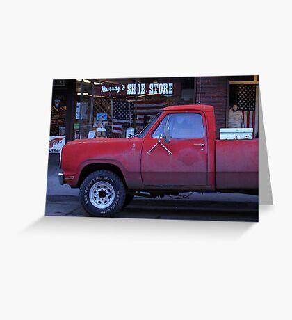 Americana • Murray's shoe store, Orofino Idaho Greeting Card