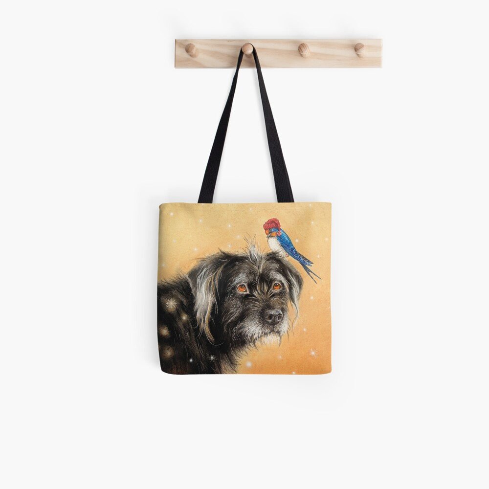 Benito with bird by Maria Tiqwah Tote Bag