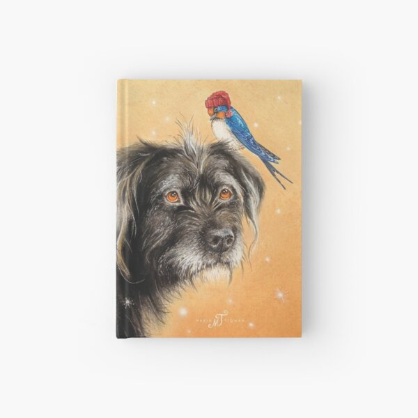 Benito with bird by Maria Tiqwah Hardcover Journal