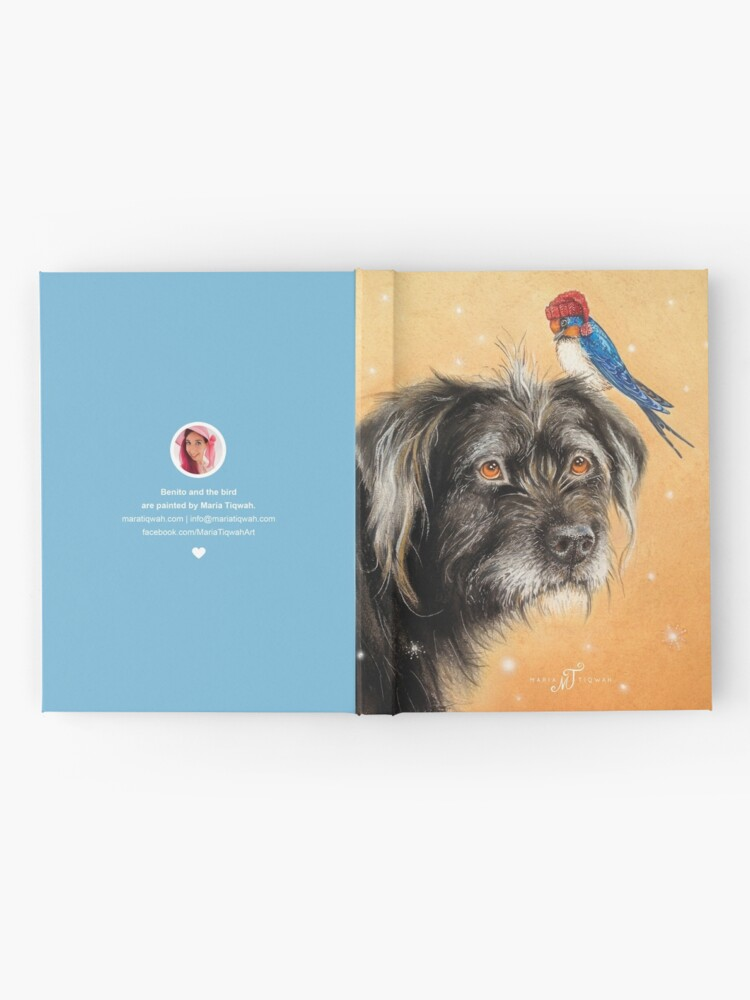 Alternate view of Benito with bird by Maria Tiqwah Hardcover Journal