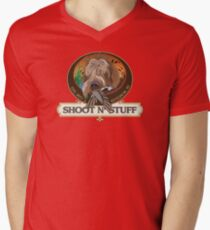 Miles' Shoot & Stuff Mens V-Neck T-Shirt
